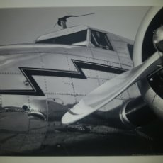 Fotografía antigua: WISCONSIN STUDIO - VITAGE AIRCRAFT CLOSE-UP . FOTOGRAFÍA B/N ORIGINAL CON MATRICULA LEGAL DEL AUTOR. Lote 194509833
