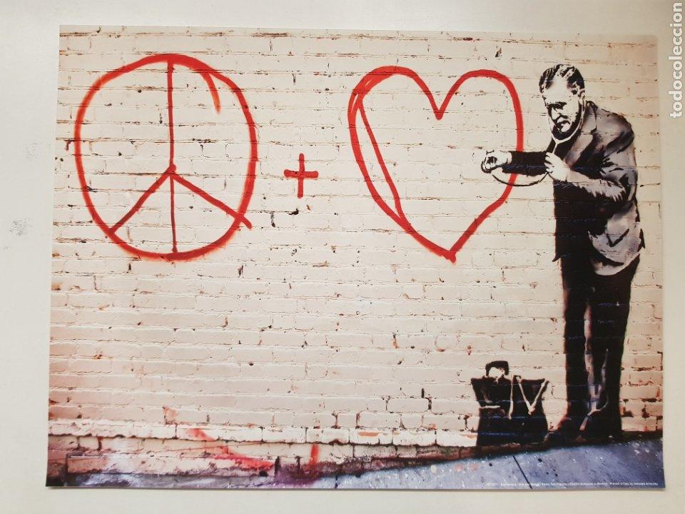 GRAFFITI TRIBUTO A BANKSY EN SAN FRANCISCO. LITOGRAFÍA COLOR ORIGINAL CON MATRICULA LEGAL DEL EDITOR (Fotografía - Artística)