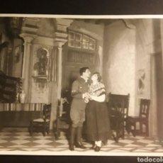 Fotografía antigua: TEATRO PRECIOSA Y ANTIGUA ORIGINAL FOTOGRAFIA ACTOR Y ACTRIZ BRANGULI FOTOGRAFO BARCELONA. Lote 194537655