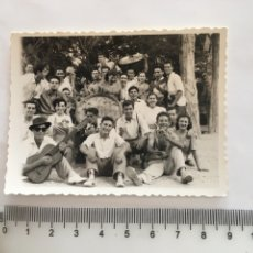 Fotografía antigua: FOTO. NO QUEDO NADA DE LA PAELLA. FIESTA EN EL CAMPO. FOTÓGRAFO?.. Lote 194571326