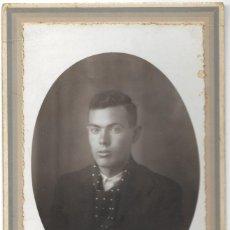 Fotografía antigua: FOTOGRAFÍA ANTIGUA RETRATO DE UN JOVEN - FOTÓGRAFO MARTÍNEZ HNOS - CULLERA (VALENCIA). Lote 194618277