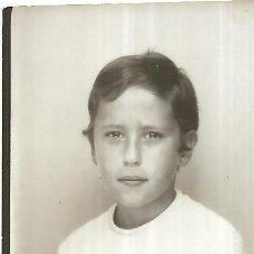 Fotografía antigua: == FP70 - FOTOGRAFIA PEQUEÑO FORMATO - JOVENCITO - 5 X 3,5 CM.. Lote 194628938