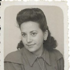 Fotografía antigua: == FP745 - FOTOGRAFIA PEQUEÑO FORMATO - BONITA JOVEN JOVEN - 5,5 X 4 CM.. Lote 194631352