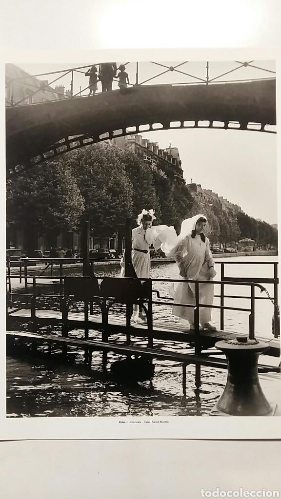ROBERT DOISNEAU: CANAL SAINT-MARTIN. PARIS 1953. FOTOGRAFÍA LITOGRAFICA ORIGINAL CON MATRÍCULA LEGAL (Fotografía - Artística)