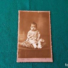 Fotografía antigua: FOTOGRAFIA TARJETA POSTAL - FOTOGRAFO PEREFERRER & BARBER - GERONA. Lote 194641212