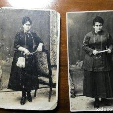 Fotografía antigua: ALBACETE.DOS POSTALES FOTOGRÁFICAS VICENTE ALANDI DE ALMANSA AÑO 1919. Lote 194645496