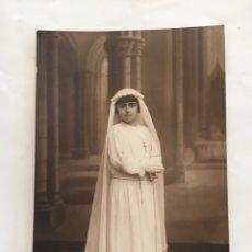 Fotografía antigua: FOTO. NIÑA DE 1ª COMUNIÓN. FOTÓGRAFO?.. Lote 194660860