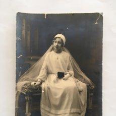 Fotografía antigua: FOTO. NIÑA DE 1ª COMUNIÓN. FOTÓGRAFO?.. Lote 194661843