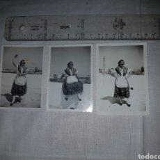 Fotografía antigua: 3 FOTOGRAFÍAS TRAJE REGIONAL MOJAQUERA ALMERÍA. 1951. Lote 194709741