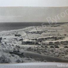 Fotografía antigua: FOTOGRAFÍA ANTIGUA. LA ROTONDA Y LOS CARACOLES. SAN AGUSTÍN. GRAN CANARIA. 18/12/1965. Lote 194726512