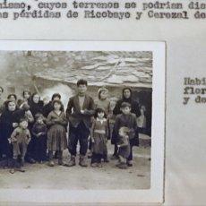 Fotografía antigua: ZAMORA FOTOGRAFIAS AMPLIACIÓN EMBALSE DE RICOBAYO. Lote 194747221