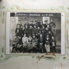 Fotografía antigua: FOTOGRAFIA INSTITUTO DE FIGUERAS GERONA 1910. Lote 194754571