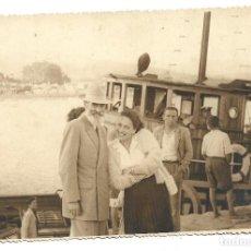 Fotografía antigua: M50-3 FOTOGRAFIAS ANTIGUAS DE - UN PASEO FAMILIAR POR EL PUERTO--. Lote 194875757
