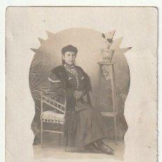 Fotografía antigua: FOLLETO SEÑORA ESCRITA SALUDA A NIÑOS COLEGIO QUIZAS SEA UNA MAESTRA DE ESCUELA EN 1910 - -R-5. Lote 194879883