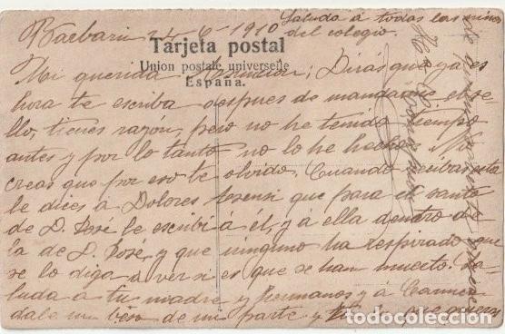 Fotografía antigua: FOLLETO SEÑORA ESCRITA SALUDA A NIÑOS COLEGIO QUIZAS SEA UNA MAESTRA DE ESCUELA EN 1910 - -R-5 - Foto 2 - 194879883