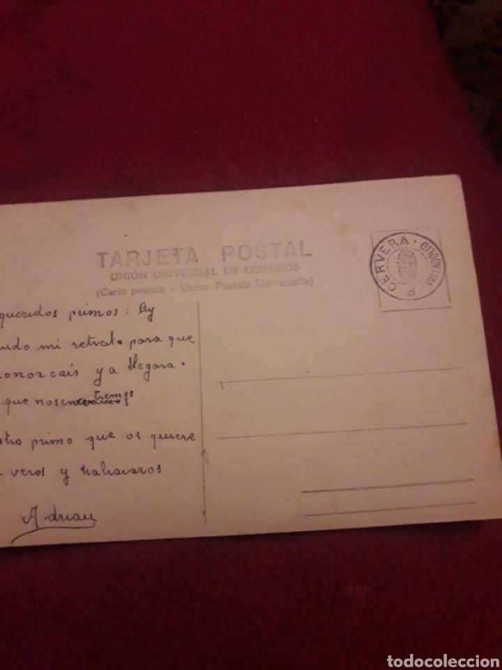 Fotografía antigua: Antigua postal fotografíca de estudio, Cervera Valladolid - Foto 2 - 194905621