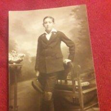 Fotografía antigua: ANTIGUA POSTAL FOTOGRAFÍCA DE ESTUDIO, CERVERA VALLADOLID. Lote 194905621