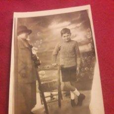 Fotografía antigua: ANTIGUA POSTAL FOTOGRAFÍCA DE ESTUDIO. Lote 194905795