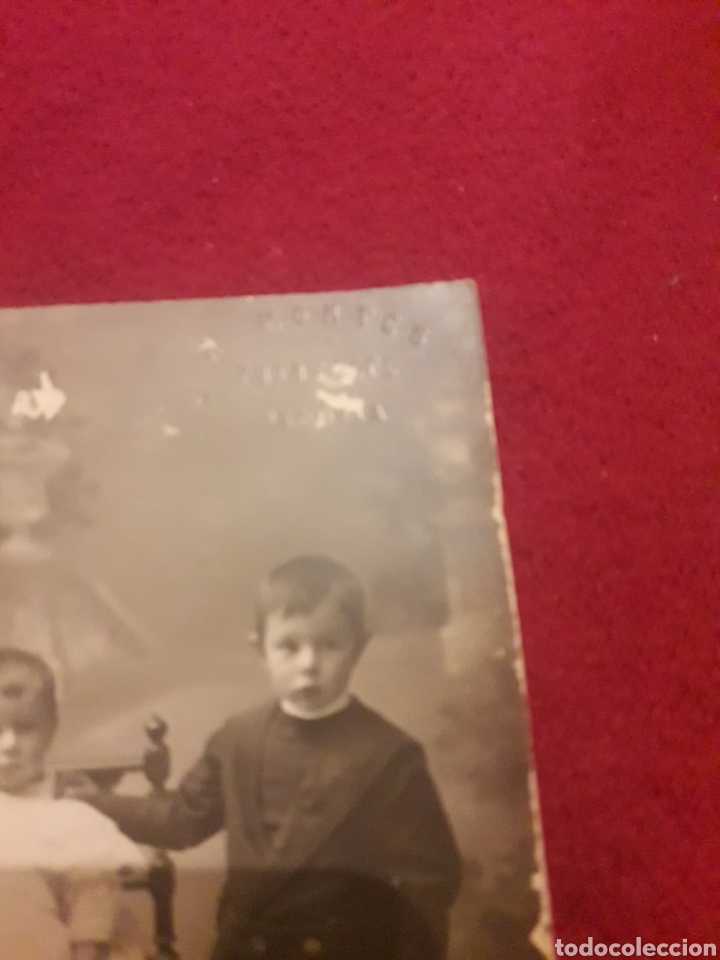 Fotografía antigua: Antigua postal fotografíca de estudio, Montes, Segovia - Foto 2 - 194905867