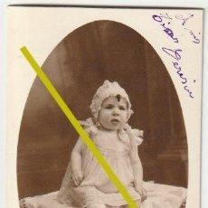 Fotografía antigua: FOTOGRAFIA NIÑA FOTOGRAFO J. GUIXOT ALICANTE 1927 - D-26. Lote 194996352