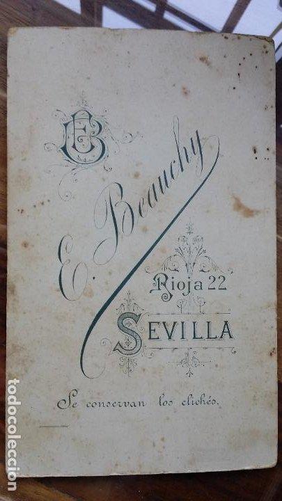 Fotografía antigua: RETRATO DE ESTUDIO, E. BEAUCHY, SEVILLA, C/ RIOJA 22, AÑOS 20 - Foto 3 - 195033743