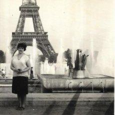 Fotografía antigua: == GG393 - FOTOGRAFIA - SEÑORA EN PARIS. Lote 195094640