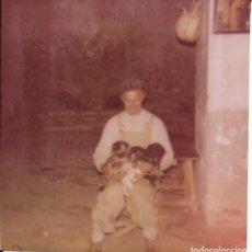 Fotografía antigua: == GG399 - FOTOGRAFIA - SEÑOR CON VARIOS PERRITOS. Lote 195094886
