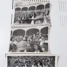 Fotografía antigua: LOTE DE TRES FOTOS DE ARTISTA EN LOS TOROS. Lote 195106750