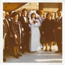 Fotografía antigua: == GG505 - FOTOGRAFIA - PAREJA DE NOVIOS CON SUS FAMILIARES. Lote 195144797