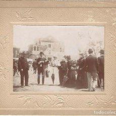 Fotografía antigua: FOTOGRAFÍA DEL RECUERDO DE LA PROCESIÓN DEL CARMEN EN 1898 ( NO PONE LOCALIDAD). Lote 195267490