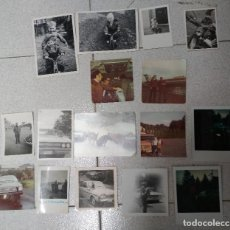 Fotografía antigua: 16 FOTOS COCHES,MOTOS,TRICICLOS,AVIONES. AÑOS 60/70. Lote 195276750