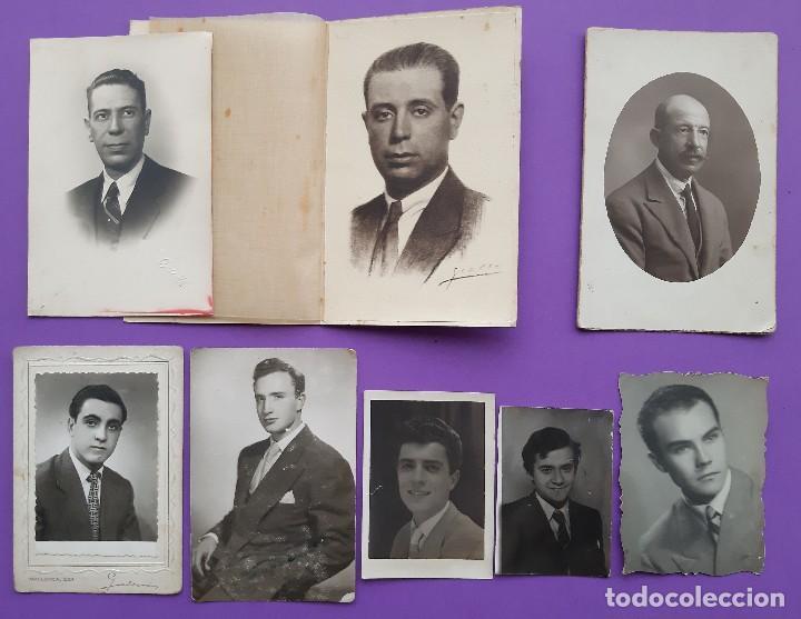 LOTE 8 ANTIGUAS FOTOGRAFIAS ARTISTICAS HOMBRES FOTO GROLLO LLOPIS CUESTA JUMER (Fotografía - Artística)