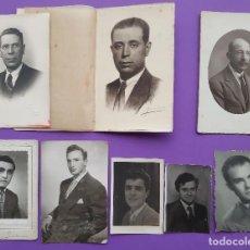 Fotografía antigua: LOTE 8 ANTIGUAS FOTOGRAFIAS ARTISTICAS HOMBRES FOTO GROLLO LLOPIS CUESTA JUMER . Lote 195340868