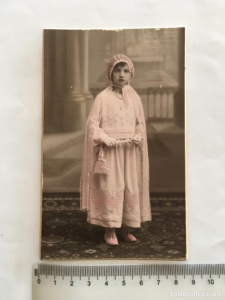 FOTO. NIÑA EN SU 1ª COMUNIÓN. FERRI, FOTÓGRAFO. VALENCIA. H. 1925?. (Fotografía - Artística)