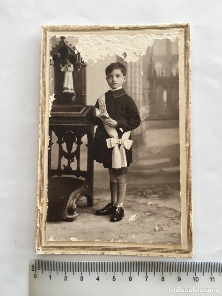 FOTO. NIÑO EN SU 1ª COMUNIÓN. FOTÓGRAFO?. H. 1925?. (Fotografía - Artística)