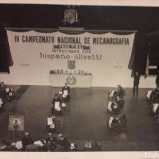 Fotografía antigua: FOTOGRAFIA ANTIGUA 1949 IV CONCURSO NACIONAL DE MECANOGRAFIA MELCON FOTOGRAFO. Lote 195395950