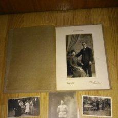 Fotografía antigua: 4 FOTOS ANTIGUAS. Lote 195405237