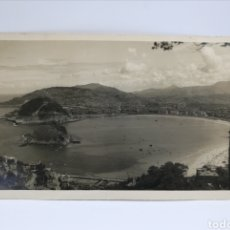 Fotografía antigua: FOTOGRAFIA PANORÁMICA DE SAN SEBASTIÁN PLAYA CONCHA. Lote 195470445