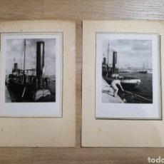 Fotografía antigua: DOS FOTOS DE VAPOR CATALUÑA BARCELONA PUERTO BCN. Lote 195480552