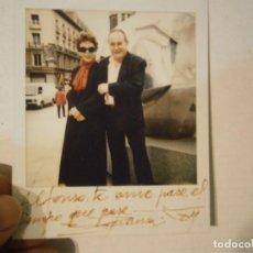 Fotografía antigua: FOTO ORIGINAL CON FIRMA DE ESPERANZA ROY,,Y ALFONSO NADAL¡¡¡UNICA EN TC¡¡¡. Lote 195514643