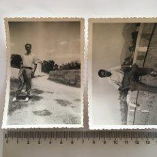Fotografía antigua: FOTOS. RECORRIDO POR LOS ALREDEDORES DEL PUEBLO. FOTÓGRAFO?.. Lote 195533720