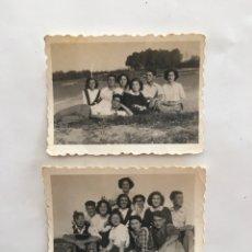 Fotografía antigua: FOTOS. GRUPO DE AMIGAS Y AMIGOS. FOTÓGRAFO?.. Lote 195536650