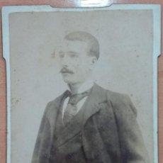 Fotografía antigua: ANTIGUA FOTOGRAFÍA. CABALLERO. FOTOGRAFO GERMAN COLON, CASTELLON. W. Lote 195560750