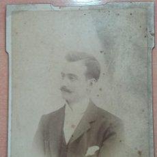 Fotografía antigua: ANTIGUA FOTOGRAFÍA. CABALLERO. FOTOGRAFO GERMAN COLON, CASTELLON. W. Lote 195560833