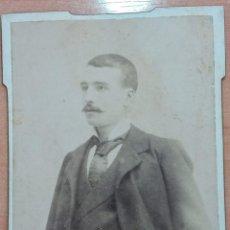 Fotografía antigua: ANTIGUA FOTOGRAFÍA. CABALLERO. FOTOGRAFO GERMAN COLON, CASTELLON. W. Lote 195560865