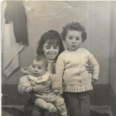 Fotografía antigua: == G1719 - FOTOGRAFIA - TRES NIÑITOS. Lote 195678375