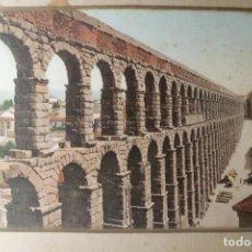 Fotografía antigua: ESPECTACULAR FOTOGRAFIA ACAEDUCTO DE SEGOVIA, FINALES SIGLO XIX. Lote 196229635