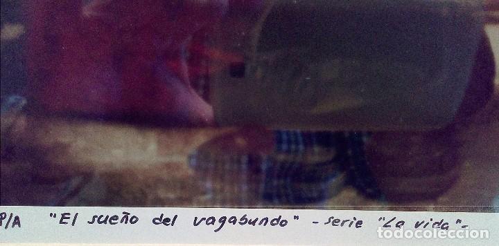 Fotografía antigua: El Sueño del Vagabundo - Serie la Vida. Fotografía original de Jesús Zatón, firmada y enmarcada - Foto 2 - 196488061