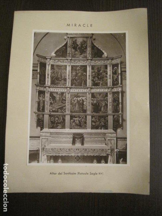 Fotografía antigua: SOLSONA-MIRACLE-ADORACIO DEL STS REIS-RETAULE SEGLE XV-FOTOGRAFIA ANTIGA-VER FOTOS-(V-19.396) - Foto 2 - 196805281