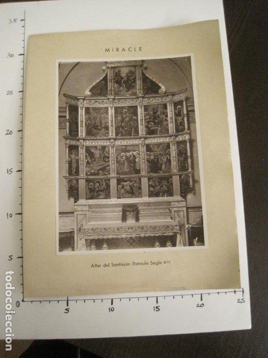 Fotografía antigua: SOLSONA-MIRACLE-ADORACIO DEL STS REIS-RETAULE SEGLE XV-FOTOGRAFIA ANTIGA-VER FOTOS-(V-19.396) - Foto 7 - 196805281